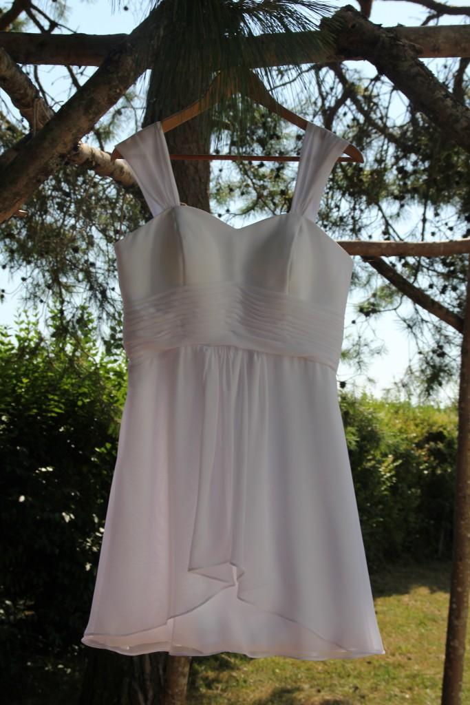 Ma robe blanche pour le mariage !