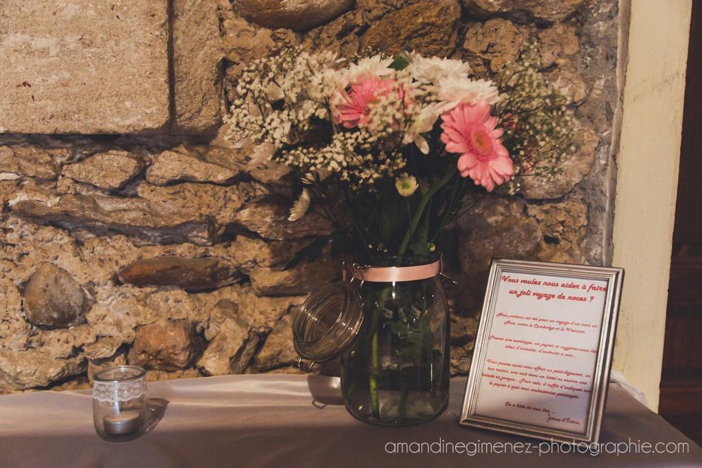 Le coin urne avec notre l'initéraire de notre voyage de noces // Photo : Amandine Gimenez