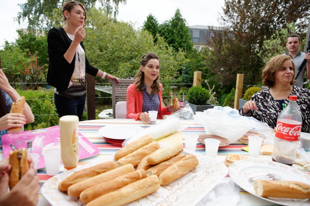 Pause déjeuner le midi du jour J // Photo : David Page Photography