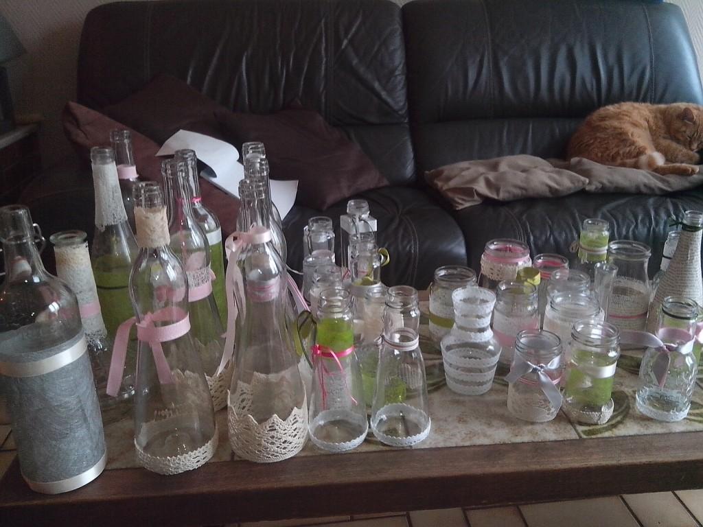 La décoration du jour J avec des bouteilles DIY !