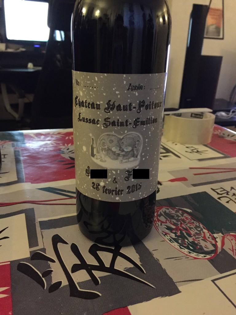 DIY pour mon mariage sur le thème de l'hiver : étiquettes de vin
