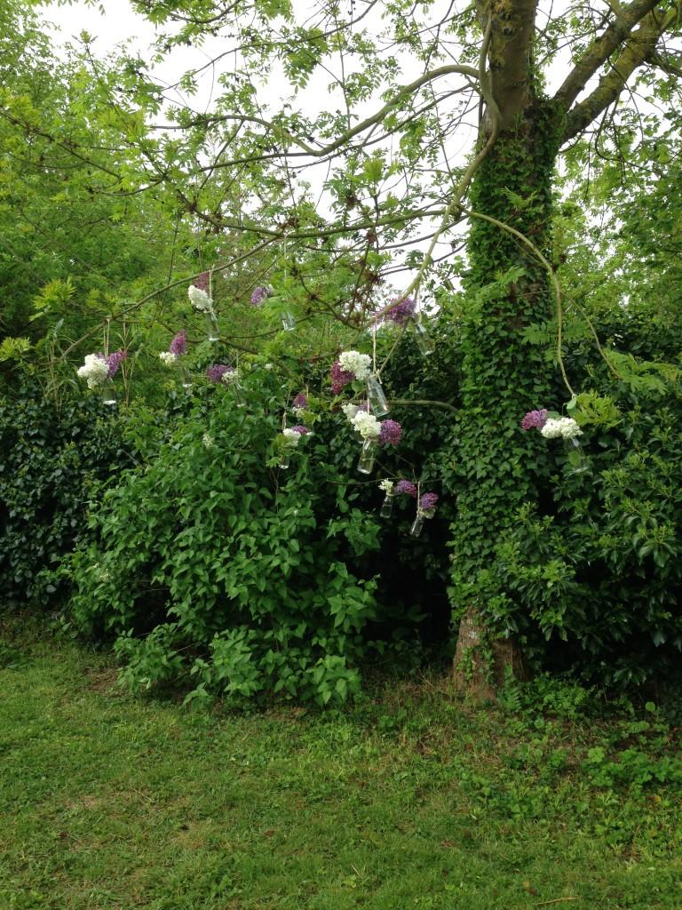 Décoration DIY suspendue dans les arbres
