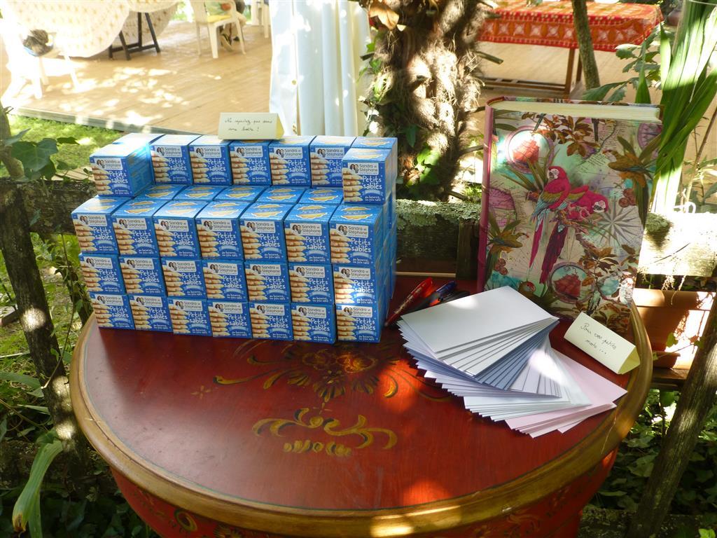 Le coin urne et cadeaux d'invités !