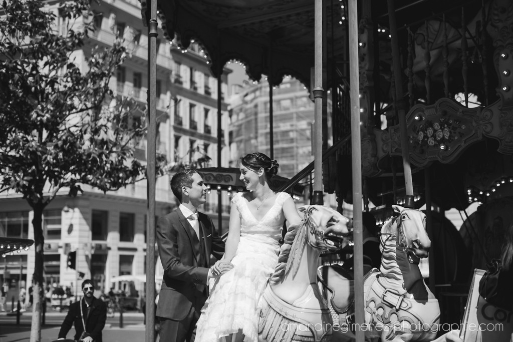 Nos photos de couple sur un carrousel à Marseille // Photo : Amandine Gimenez