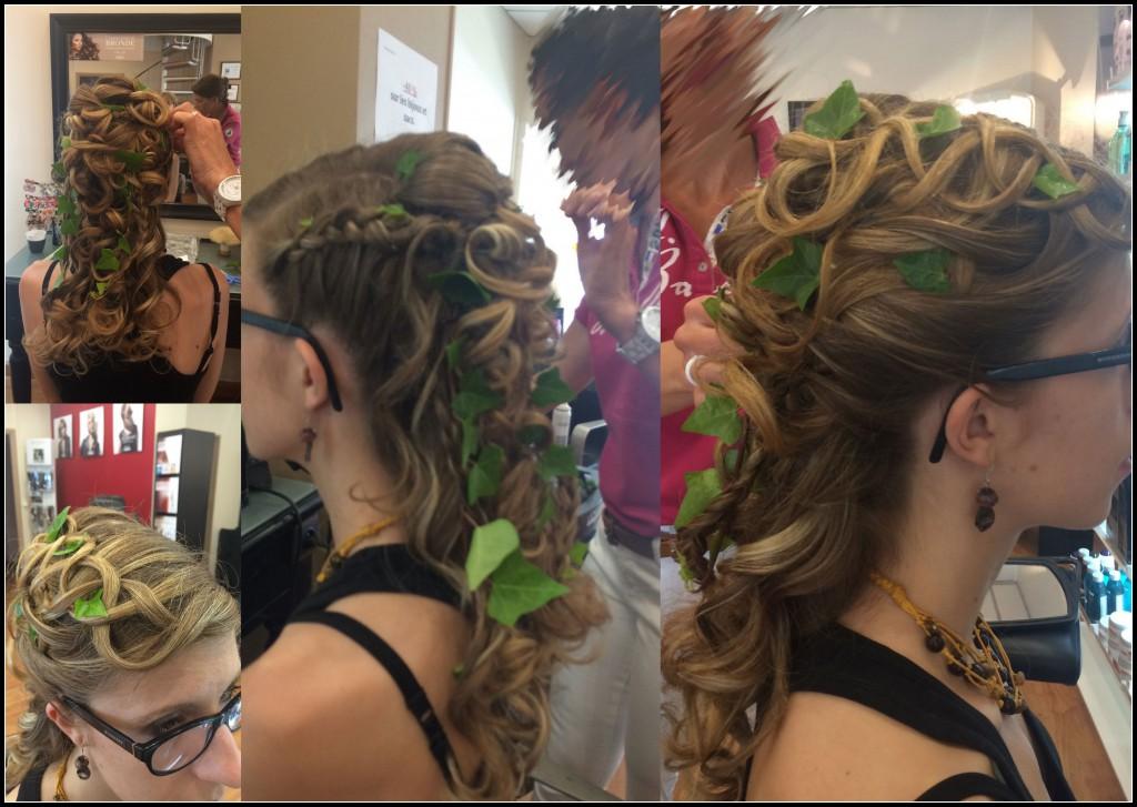Essai coiffure pour mon mariage au thème elfique
