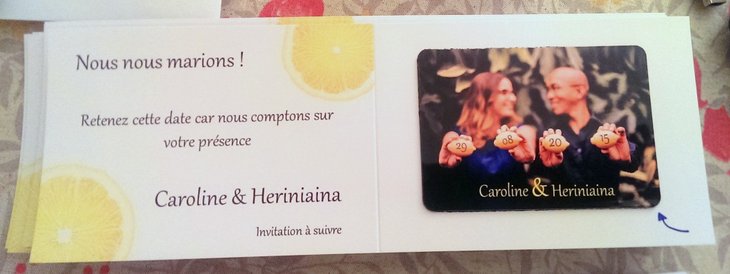 Notre magnet save-the-date