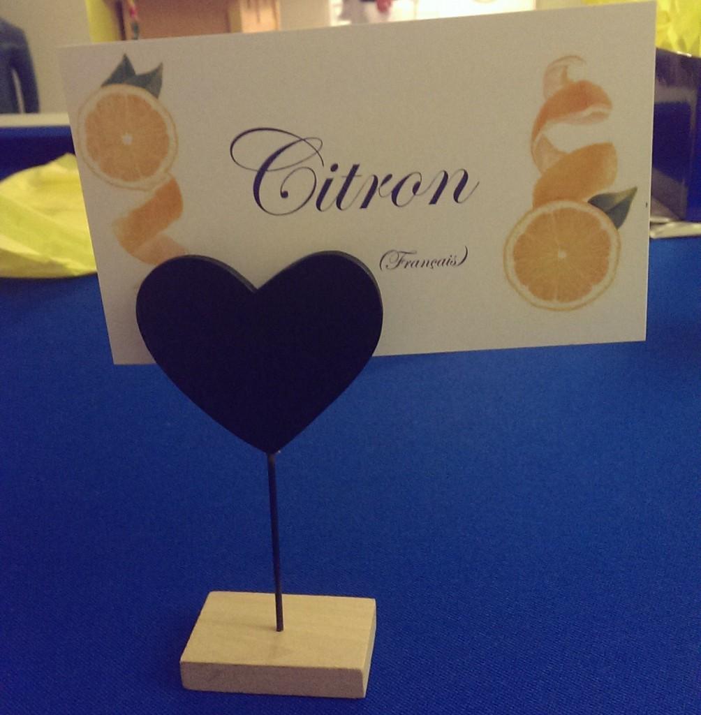 Notre papeterie DIY sur le thème des citrons : les marque-places