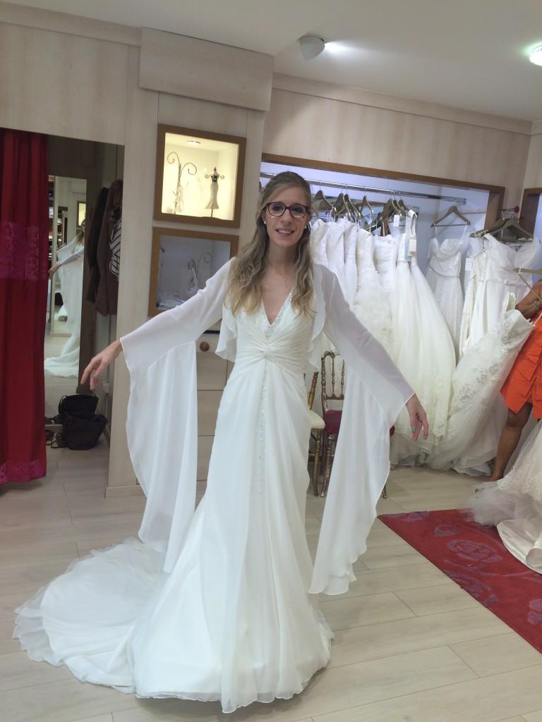 Essais et retouches pour ma robe de style elfique
