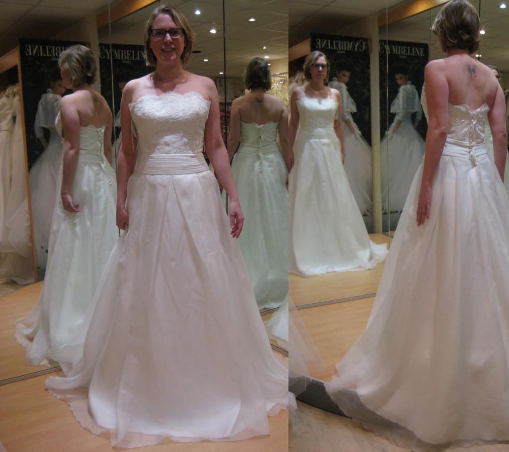 Essayages de robes de mariée Lambert Créations, modèle Muriel
