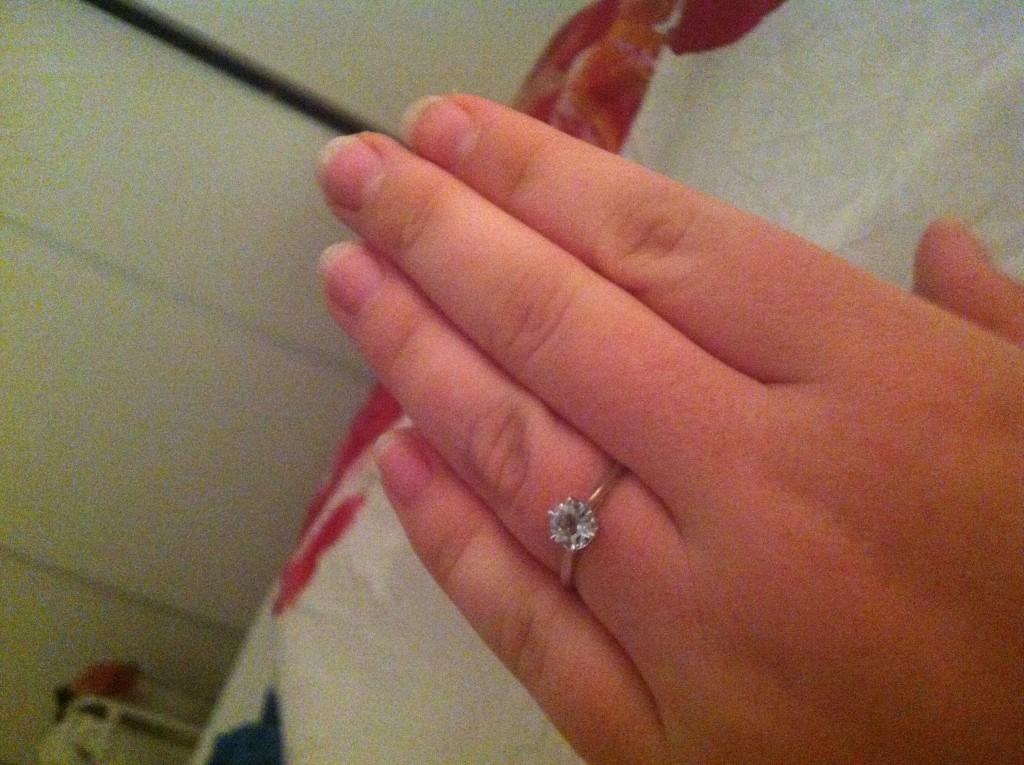 Ma bague de fiançailles !