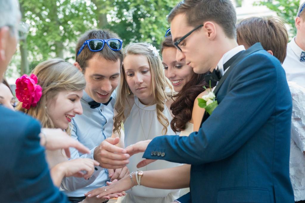 Le mariage civil de Charlène en bleu (14)