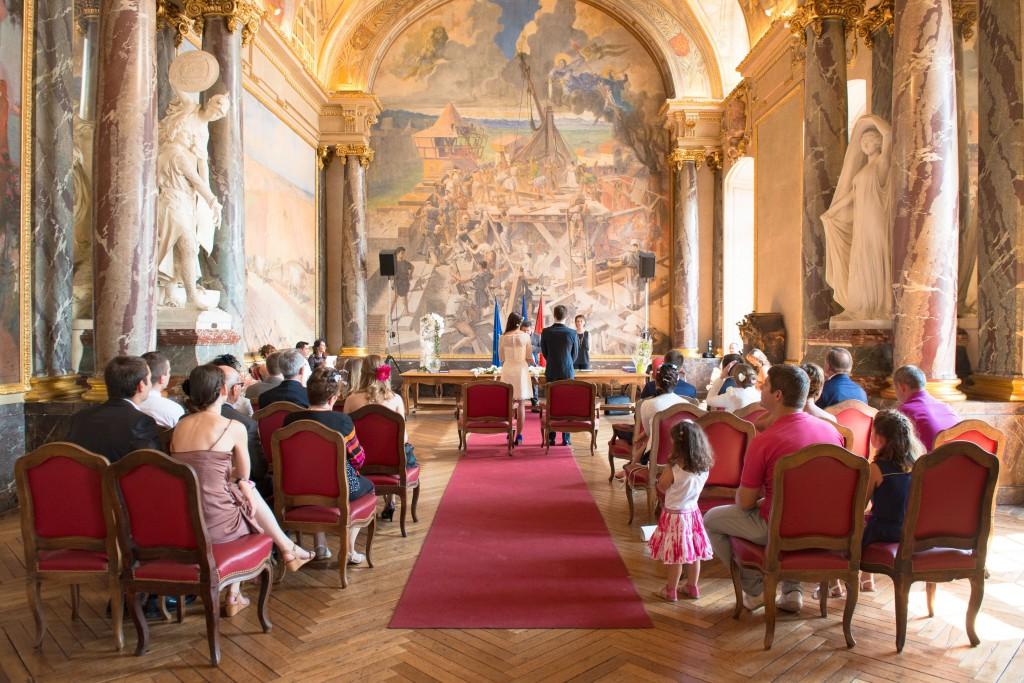Le mariage civil de Charlène en bleu (7)