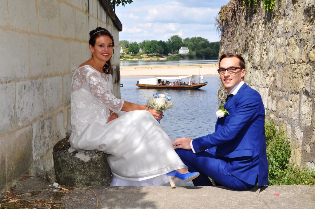 Le mariage de Charlène en bleu avec une touche de jaune et des paillettes (9)