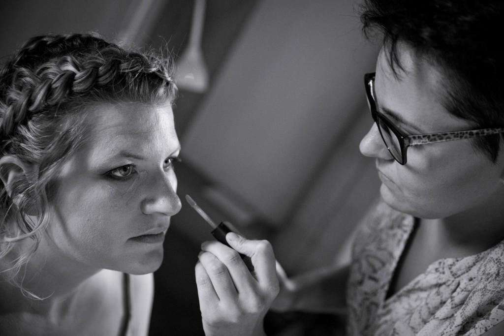 Maquillage et coiffure par Mélanie Bouton // Photo : Pierre Grasset