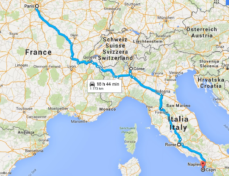 Un voyage de noces, road trip jusqu'en Italie !