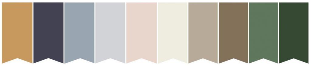 Palette de couleur pour mariage hivernal