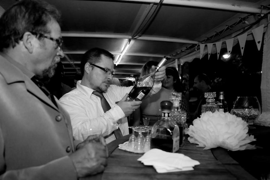 Le bar à alcools et à cigares // Photo : Cynthia Cappe