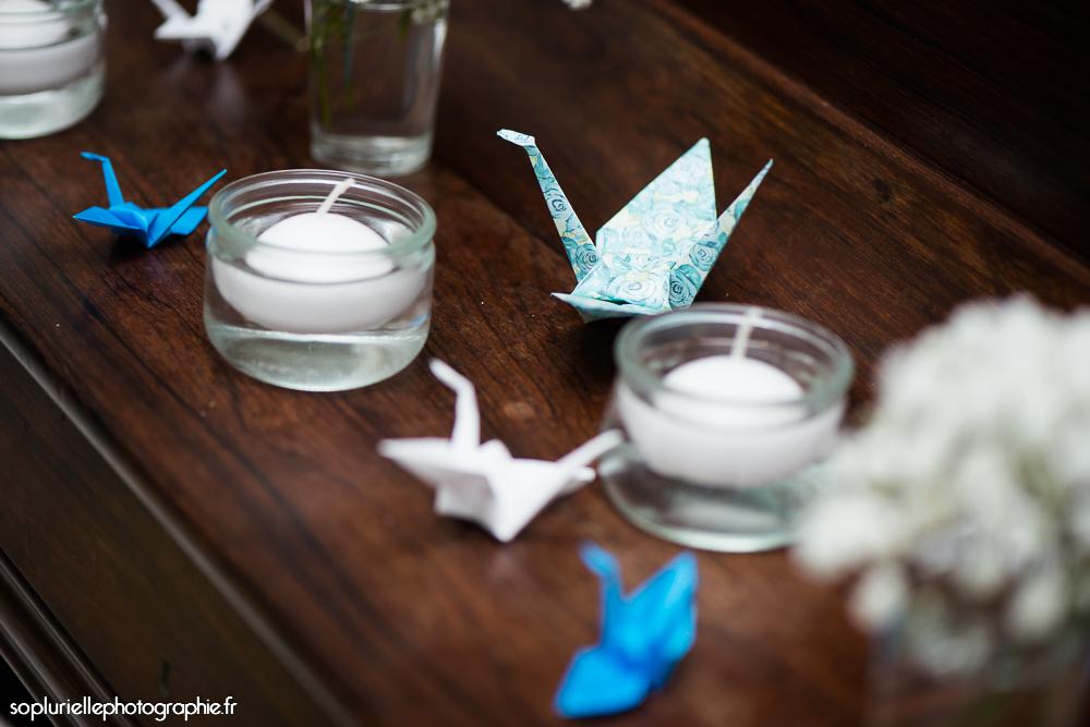Des grues en origami comme déco de mariage // Photo : So Plurielle Photographie