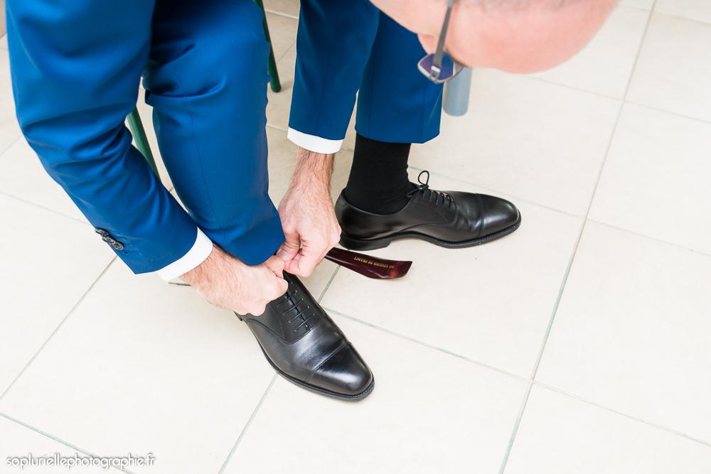 chaussures noires marié