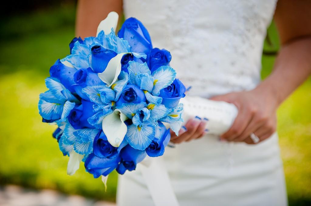 Trouver des fleurs bleues pour le mariage