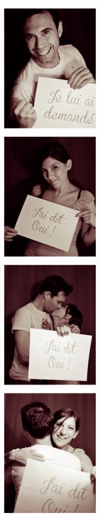 Montage photo pour annoncer le mariage
