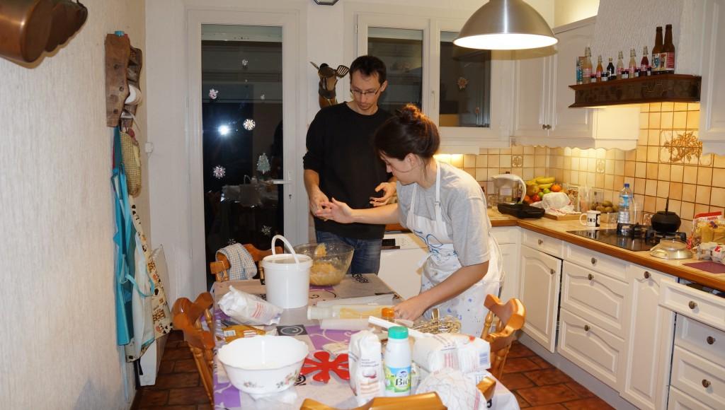 Derniers préparatifs avant le jour J : confection des biscuits