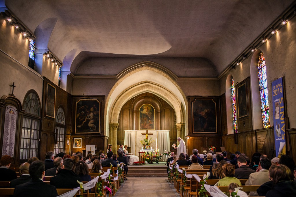 Notre cérémonie religieuse franco-américaine // Photo : Sarah Dawson Photography