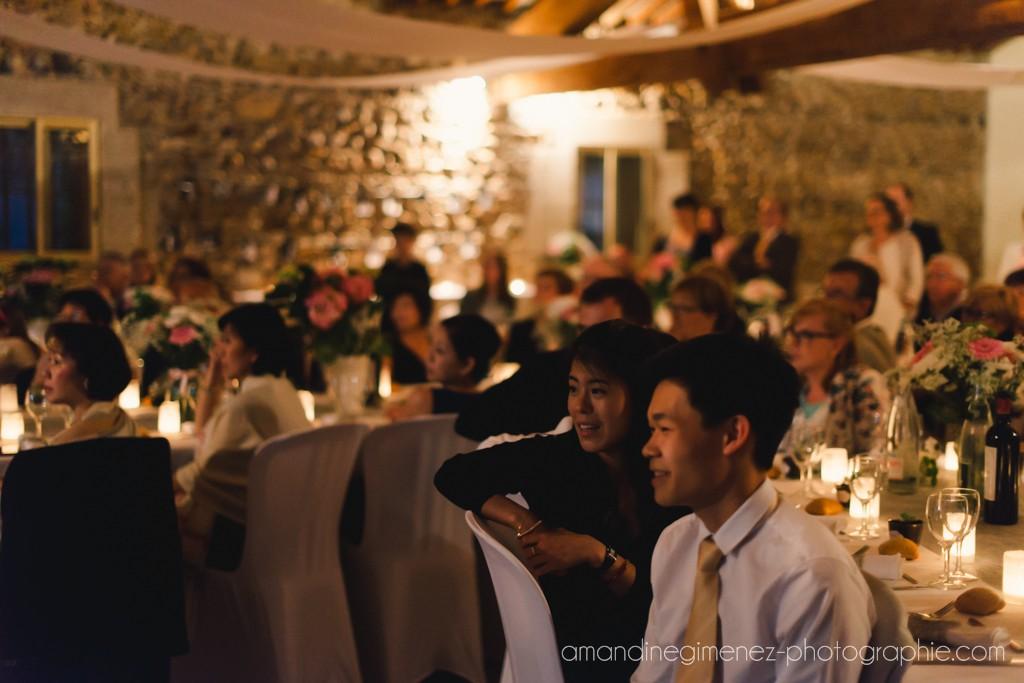 Notre entrée dans la salle le soir du mariage // Photo : Amandine Gimenez