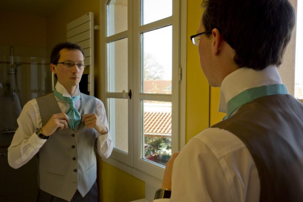 Le matin du jour J : habillage du marié