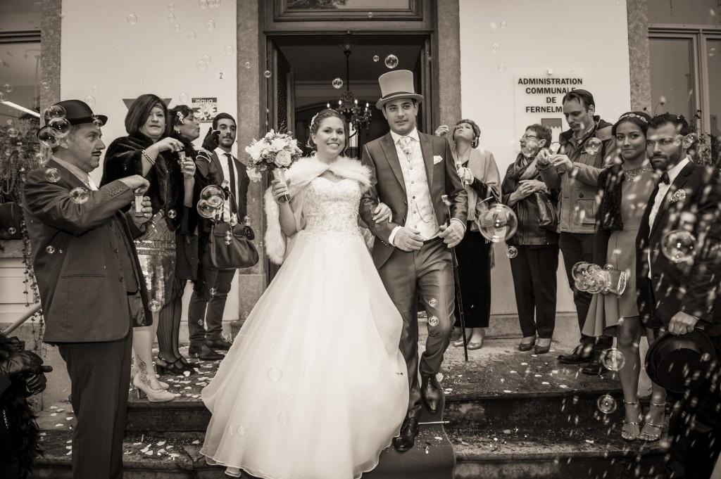 Le mariage romantique de Mme Charleston sur le thème des années folles - Photo Cédric Alexandre (2)