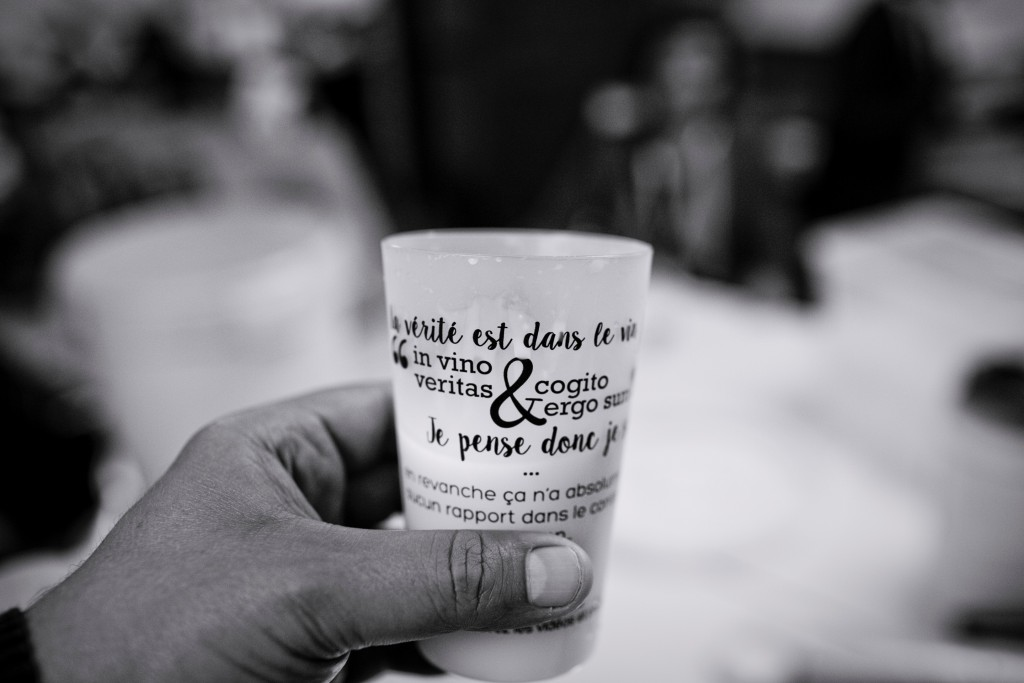 Nos verres sérigraphiés pour le mariage // Photo : Pierre Grasset