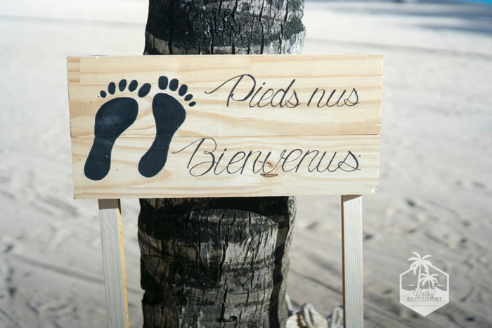 Panneau de bienvenue mariage - Photo Cathy Dudzinski