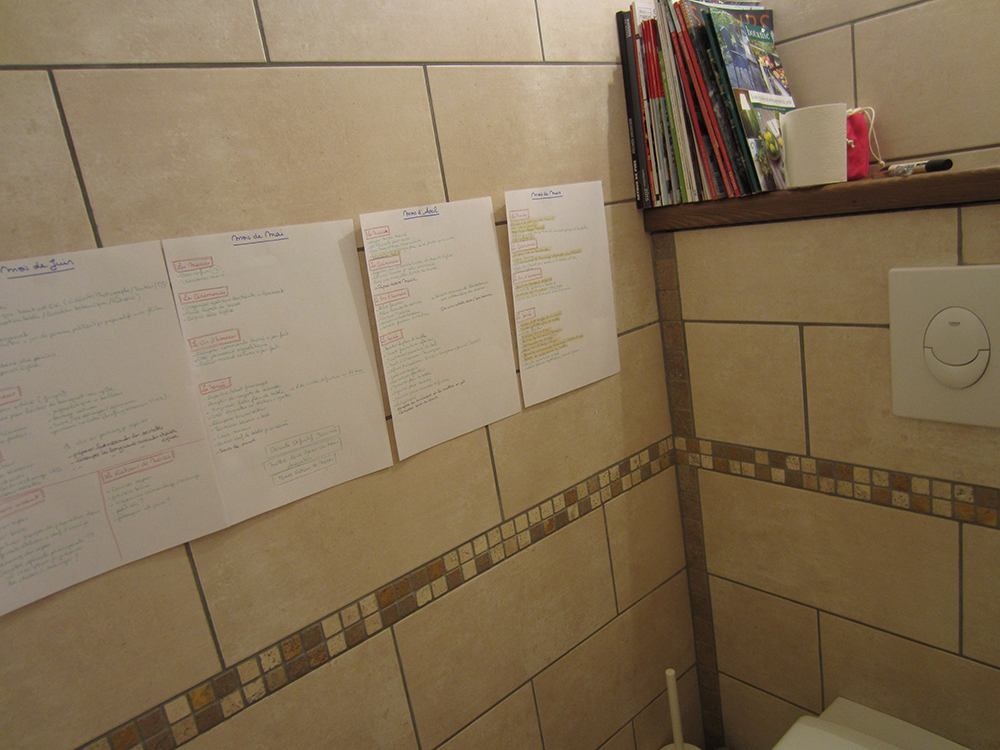 To do list aux toilettes