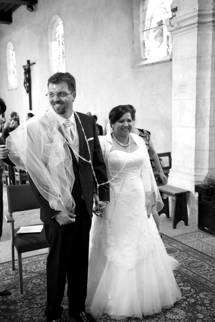 Mariage gris et vert - Cérémonie religieuse