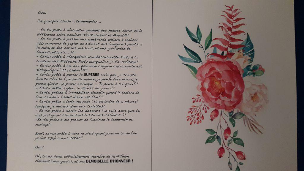 Carte témoin Mlle Briquette