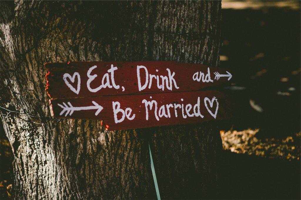 Panneau de mariage