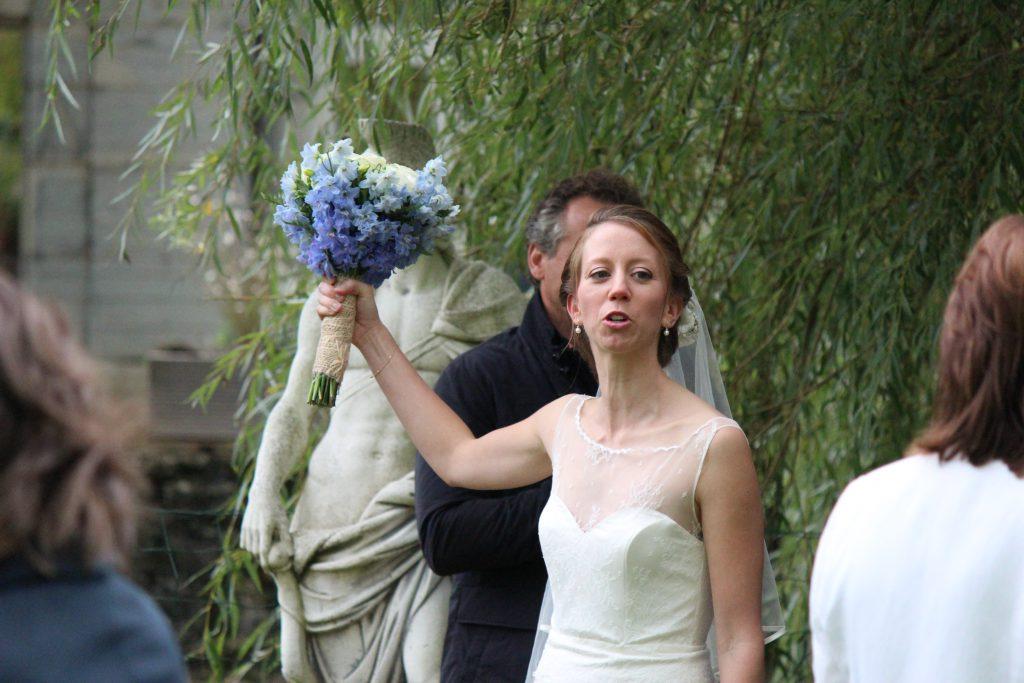 La mariée gère les photos