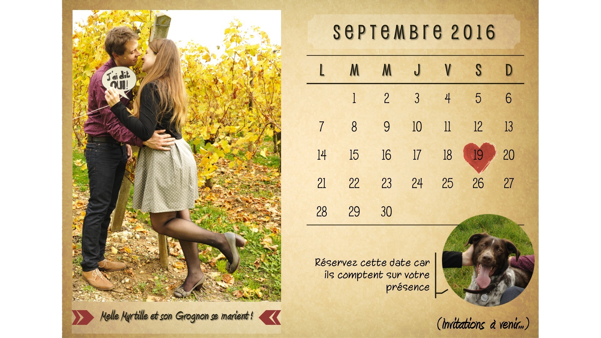 Save the date Mlle Myrtille