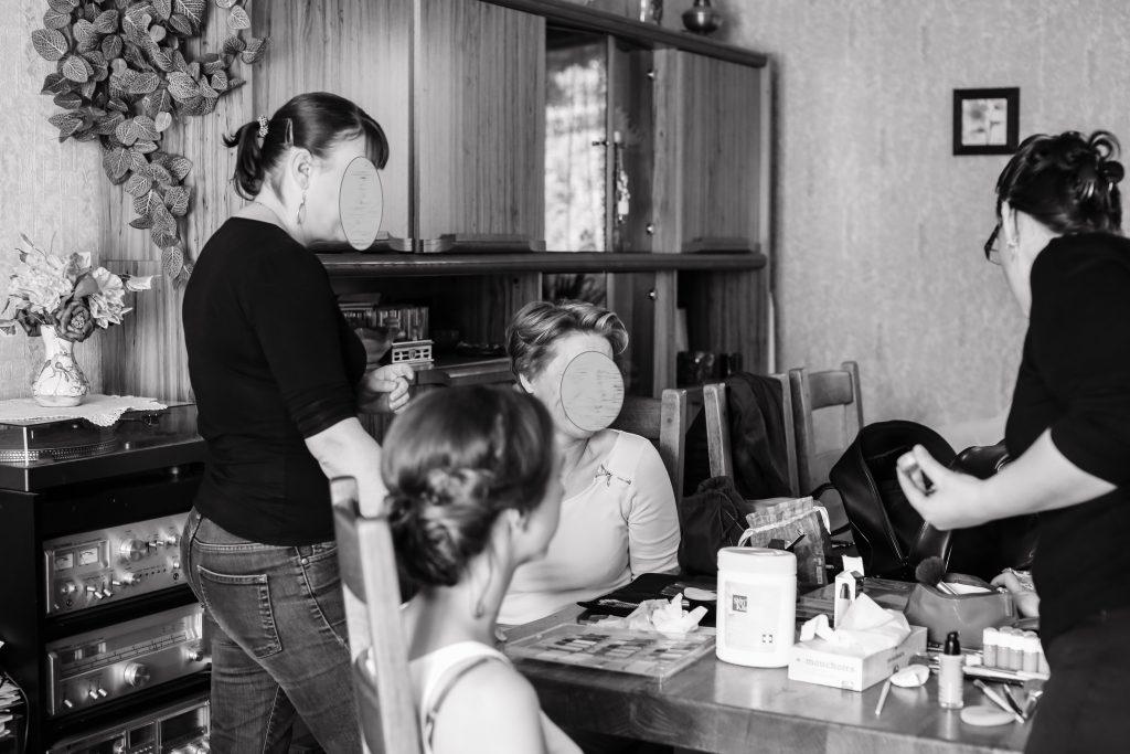 Préparatifs Mme Bleue - Anita Gallot