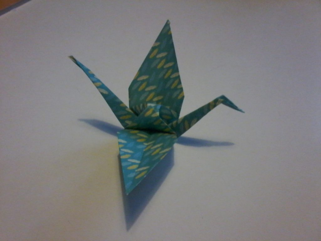 Les grues en origami pour la déco de la soirée de notre mariage