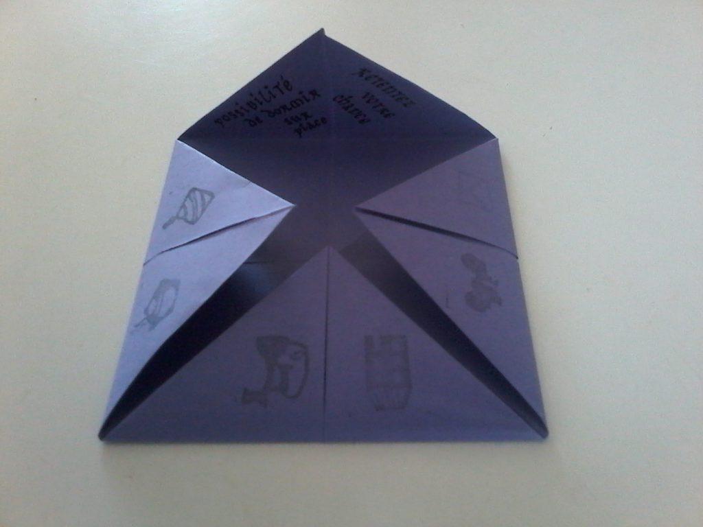 Les invitations en origami pour notre soirée de mariage