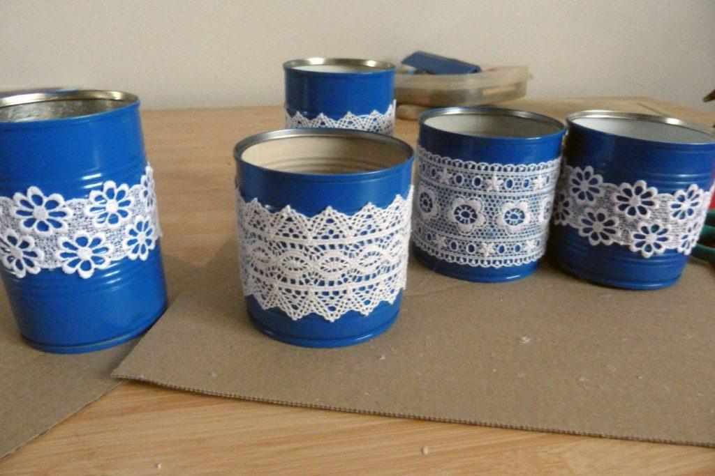 La décoration DIY du mariage en bleu et fushia