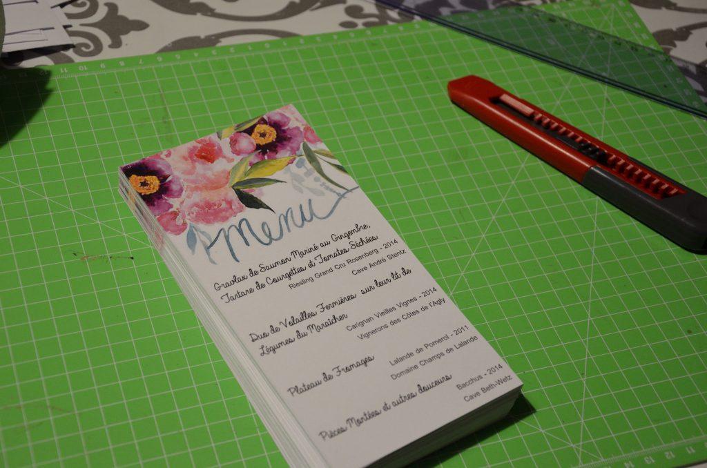 Tuto pour une jolie papeterie de mariage fleurie !