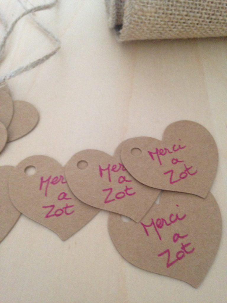 Nos cadeaux d'invités : les petits pots de miel