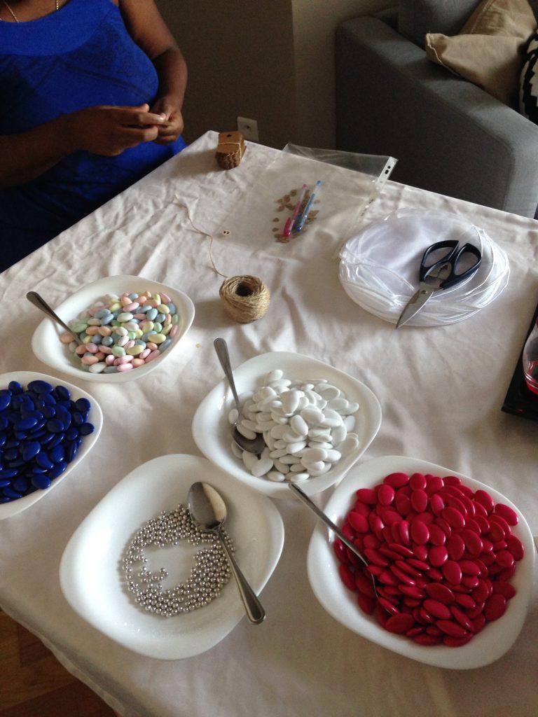 Nos cadeaux d'invités : les bertels de dragées
