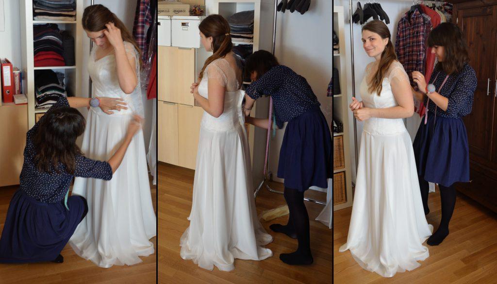 Créer sa robe de mariée avec une couturière