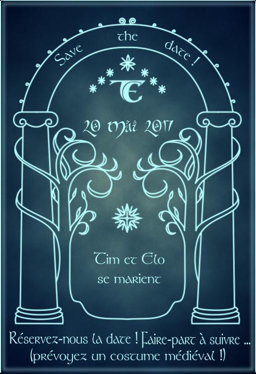 Save-the-date Seigneur des Anneaux