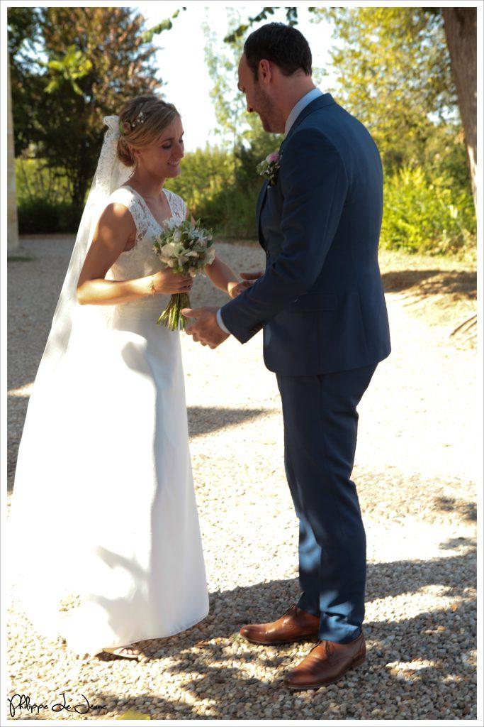 La découverte des mariés, devant l'église