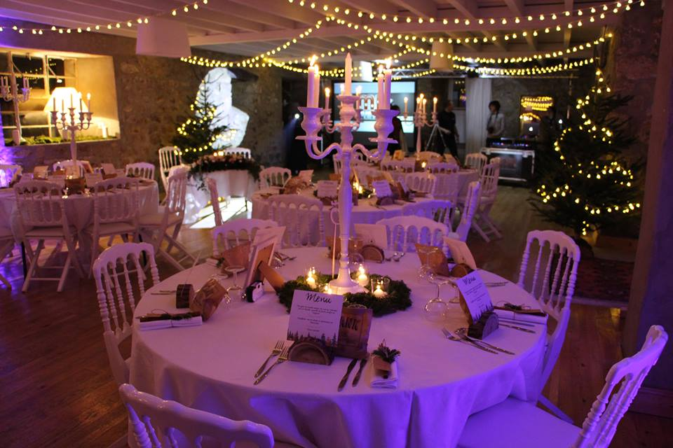 Décoration de table pour mariage d'hiver