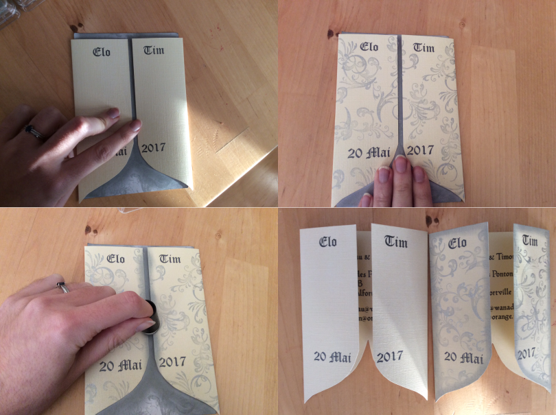 Tutoriel DIY : ajuster les papiers à mon faire-part